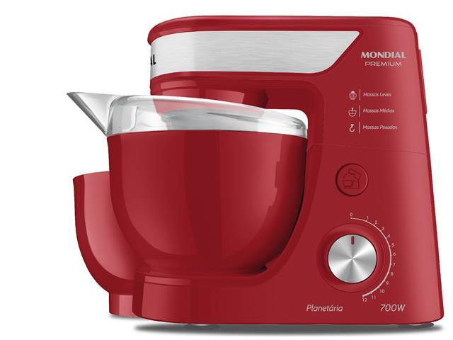 Batedeira Planetária Mondial Premium Vermelha 700W 110V