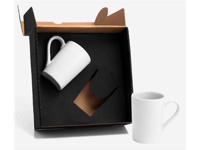 Kit de Canecas em Cerâmica Branca 230ML