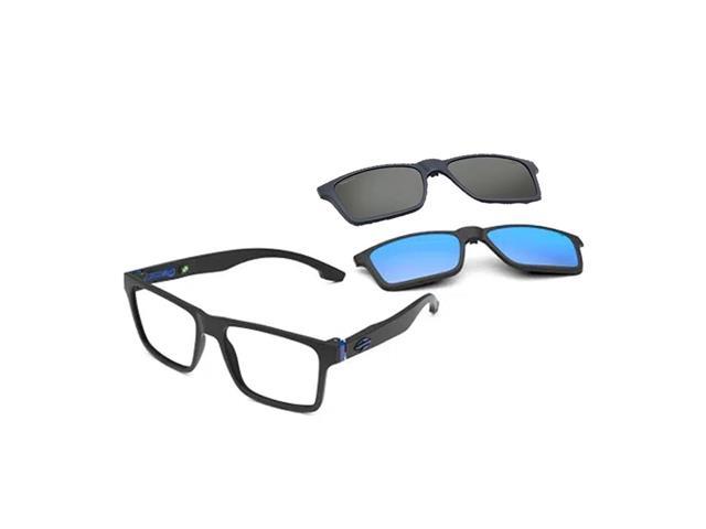 Armação Óculos de Grau Mormaii Swap NG Duo Preto Fosco C/H Azul/L TA