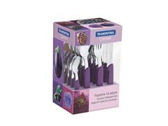 Conjunto de Talheres Tramontina Carmel Purpura/Escuro 16 Peças - 1