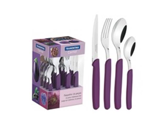 Conjunto de Talheres Tramontina Carmel Purpura/Escuro 16 Peças