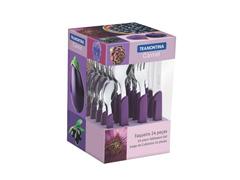 Conjunto de Talheres Tramontina Carmel Purpura/Escuro 24 Peças - 1