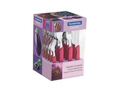 Conjunto de Talheres Tramontina Carmel Purpura 24 Peças - 1