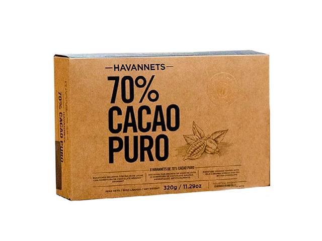 Havannets de Chocolate Amargo Havanna 70% Cacau 8 Unidades - 2
