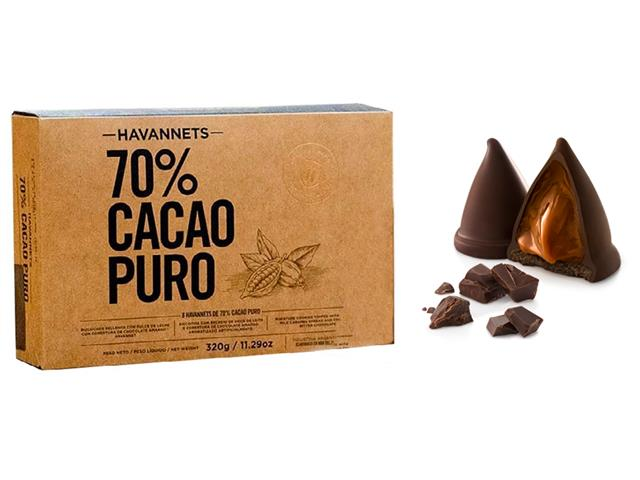Havannets de Chocolate Amargo Havanna 70% Cacau 8 Unidades