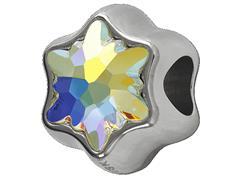 Becharmed Flor Aurora Boreal decorado com cristais da Swarovski® - 1