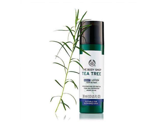 Loção Hidratante Noturna The Body Shop Tea Tree 30ML