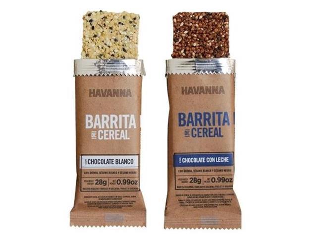 Combo Havanna Barrita de Cereal Chocolate ao Leite e Branco 6 Unidades