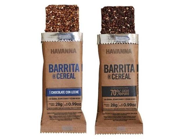 Combo Havanna Barrita de Cereal Chocolate ao Leite e Amargo 6 Unidades