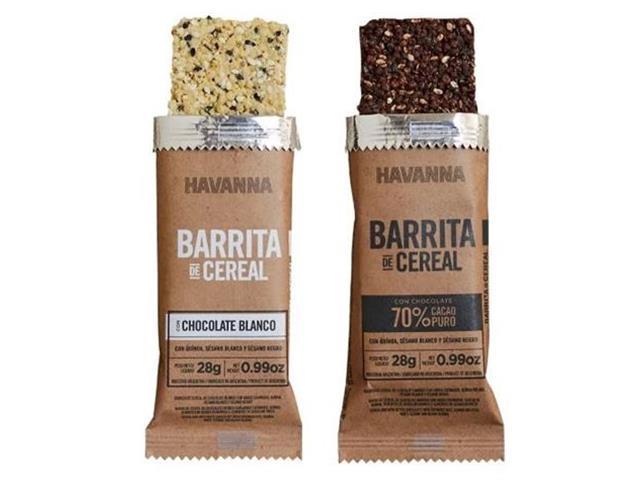 Combo Havanna Barritas de Cereal Chocolate Branco e Amargo 6 Unidades