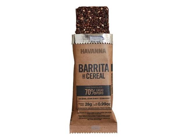 Combo Havanna Barritas de Cereal Chocolate Amargo 70% Cacau 6 Unidades