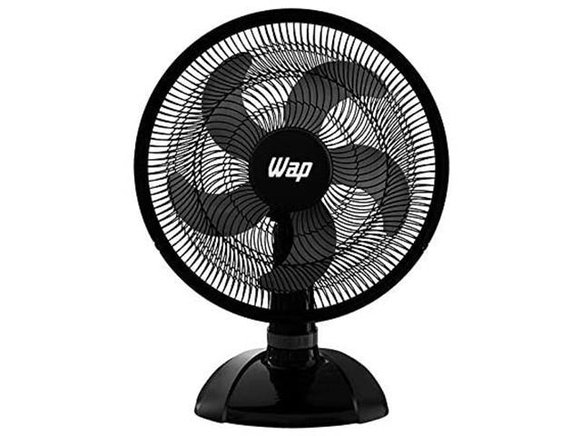 Ventilador de Mesa WAP Rajada Turbo W130 50cm 5 Pás Preto 220V