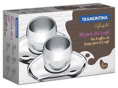 Jogo de Xícaras para Café Tramontina Aço Inox 6 Peças - 2