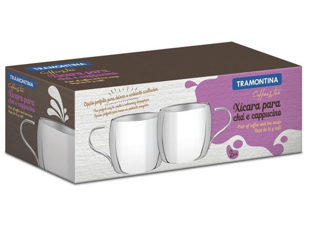 Jogo de Xícaras para Chá e Cappuccino Tramontina Inox 2 Peças  - 2