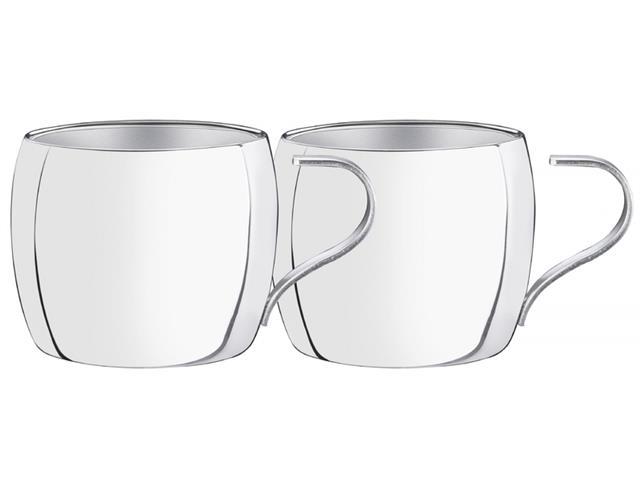 Jogo de Xícaras para Chá e Cappuccino Tramontina Inox 2 Peças