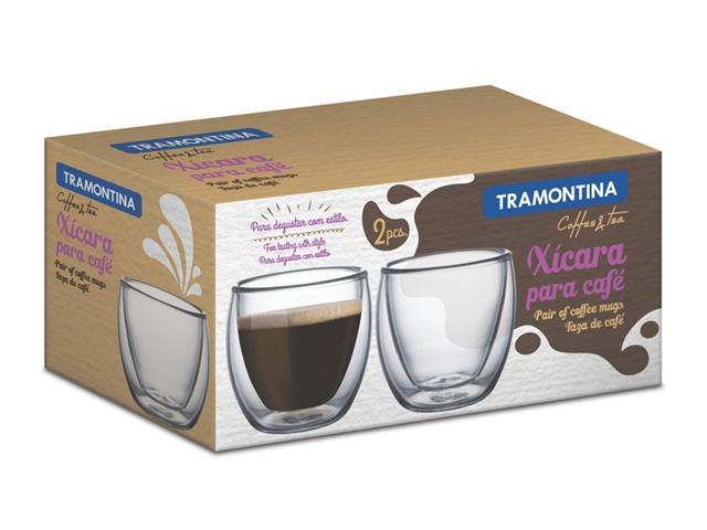 Conjunto de Xícaras para Café em Vidro Tramontina 2 Peças - 2