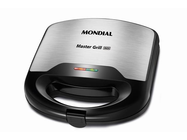Sanduicheira Grill 2 em 1 Mondial Master S-20 Inox 220V
