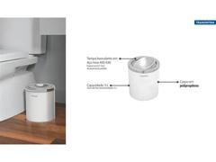 Lixeira Útil Tramontina Basculante Branca 5 Litros - 1