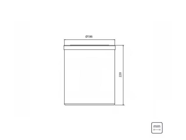 Lixeira Útil Tramontina Basculante Branca 5 Litros - 2