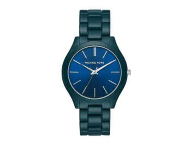Relógio Michael Kors Essential Feminino MK4416/1VN Slim Runway Azul