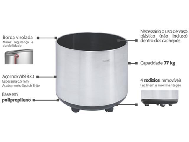 Cachepô Tramontina Belt Color em Aço Inox 77kg - 1