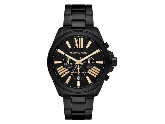 Relógio Michael Kors Big Cases Feminino MK8767/1PN Preto