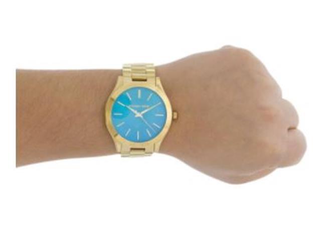 Relógio Michael Kors Essential Feminino MK3492/4VN Runway Dourado - 1