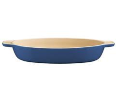 Travessa de Cerâmica Oval Tramontina Azul Ø 28CM