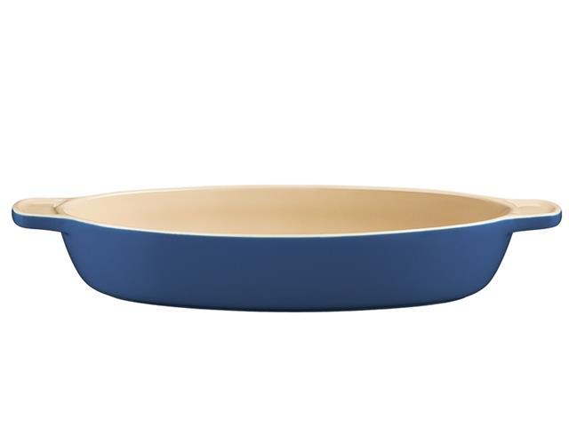Travessa de Cerâmica Oval Tramontina Azul Ø 31CM