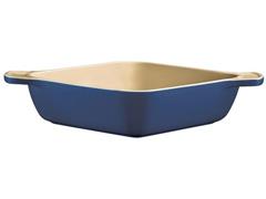 Travessa de Cerâmica Quadrada Funda Tramontina Azul Ø 22CM