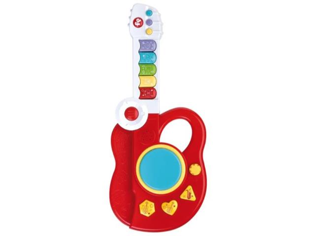 Guitarra Infantil Fun Fisher Price 3 em 1 Vermelha