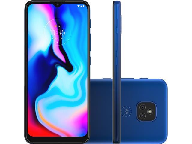 """Smartphone Motorola Moto E7 Plus 64GB Duos 6.5"""" 4G Câm 48+2MP Azul"""