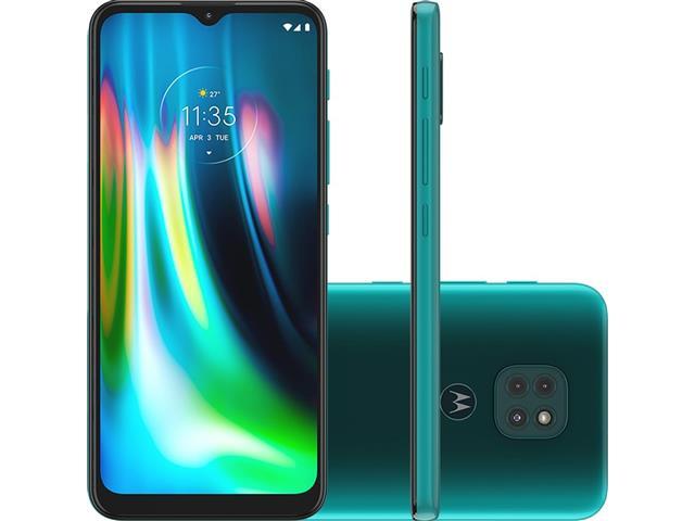 "Smartphone Motorola Moto G9 Play 64GB Duos 6.5"" 4G Câm 48+2+2MP Verde"