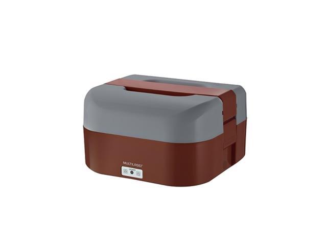 Marmita Elétrica Mulilaser 1,6 Litros com Divisórias Vermelha Bivolt