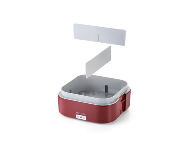 Marmita Elétrica Mulilaser 1,6 Litros com Divisórias Vermelha Bivolt - 4