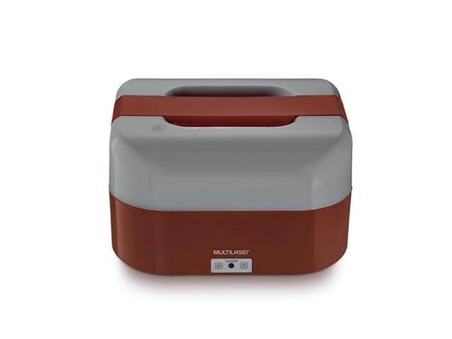 Marmita Elétrica Mulilaser 1,6 Litros com Divisórias Vermelha Bivolt - 1