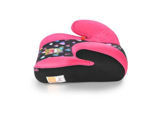 Assento para Auto Multikids Booster Hot Barbie Classic Preto/Rosa - 2
