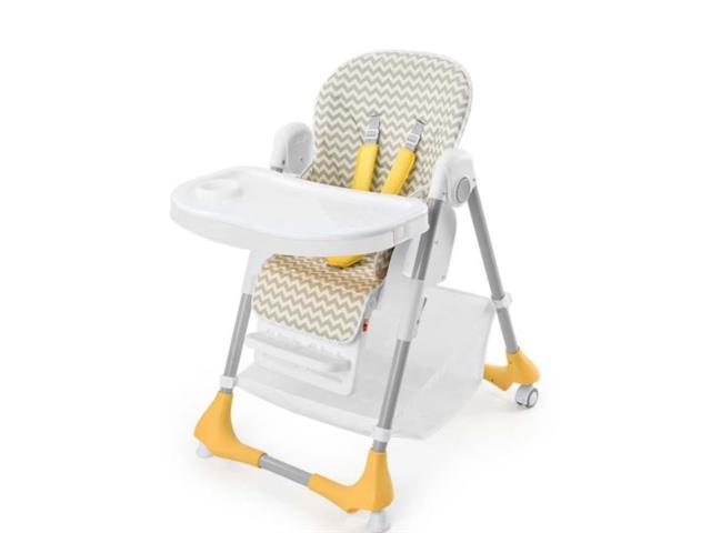 Cadeira Alta de Alimentação Multikids BB606 Gourmet Cinza até 15Kg