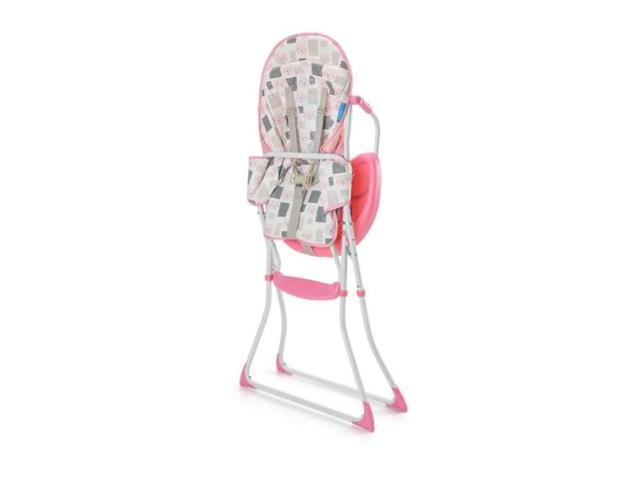 Cadeira Alta de Alimentacao Multikids BB610 Slim Rosa Gatinho - 1