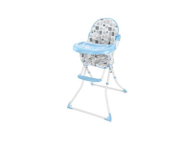 Cadeira Alta de Alimentacao Multikids BB609 Slim Azul Leaozinho