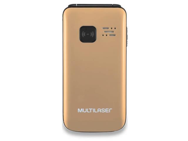 Celular Flip Multilaser P9043 Vita Dual Chip Mp3 Dourado - 1