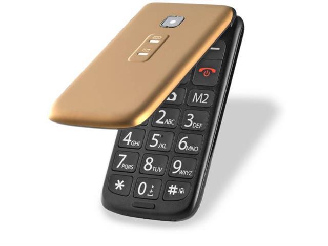 Celular Flip Multilaser P9043 Vita Dual Chip Mp3 Dourado