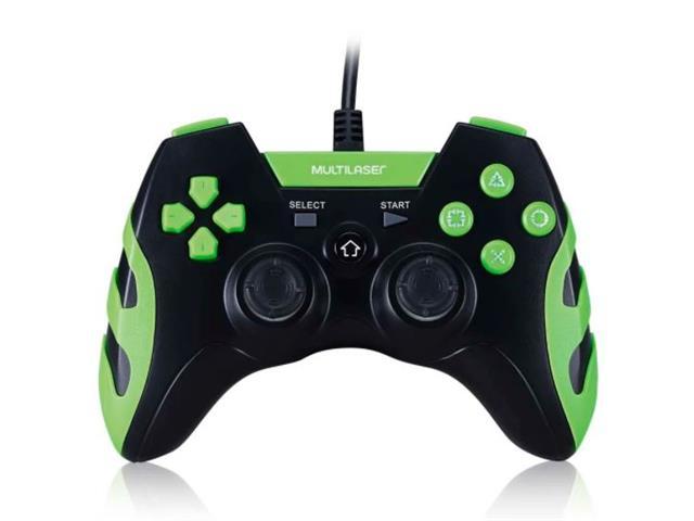 Controle Gamer PS3/PC Multilaser JS091 Preto/Verde