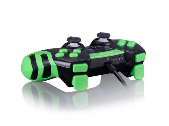 Controle Gamer PS3/PC Multilaser JS091 Preto/Verde - 1