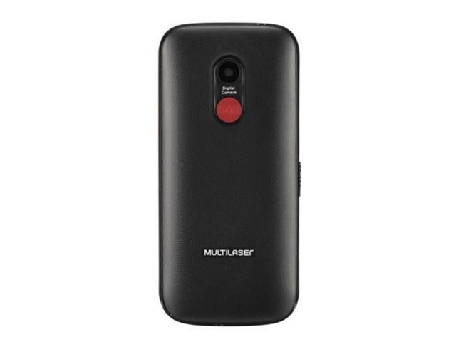 "Celular Multilaser P9120 Vita Dual Chip 2G USB Bluetooth Preto 1.8"" - 1"