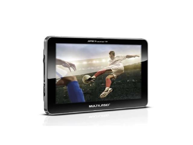 GPS Touch Multilaser GP038 TV Digital Rádio FM TTS E-Book LCD 7 Pol.