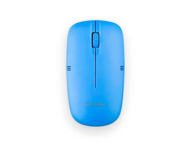 Mouse Sem Fio Multilaser MO288 2.4GHZ USB Azul - 1