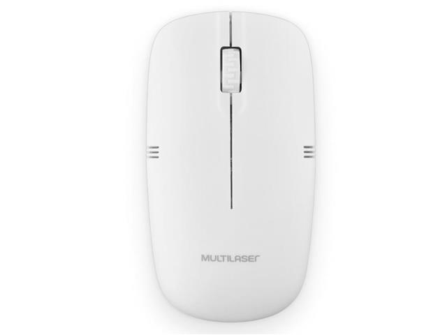 Mouse Sem Fio Multilaser MO286 2.4GHZ USB Branco - 2