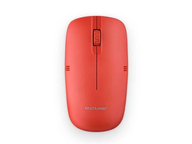Mouse Sem Fio Multilaser MO289 2.4GHZ USB Vermelho - 2