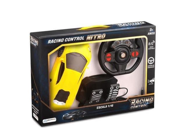 Carrinho de Contole Remoto Mulikids Racing Control Midnight Amarelo - 2